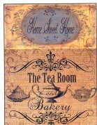 Декупажная карта формата А4 -  The tea room